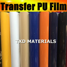 Free shipping Premium Plotter cutter PU Heat Transfer Film and Heat Transfer Thermo Film For Garment 50x100cm in one lot(China)