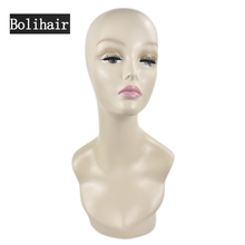Free Shipping Female Realistic Mannequin Head Sale For Wig Hast And Jewelry Display Fiberglass Female Mannequin Head(China)