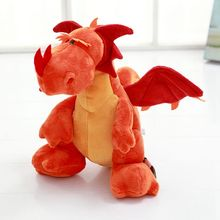Nooer Stuffed Dinosaur Toy Jurassic Period Cute Cartoon Dragon Plush Dolls For Boy Birthday Christmas Children Gift