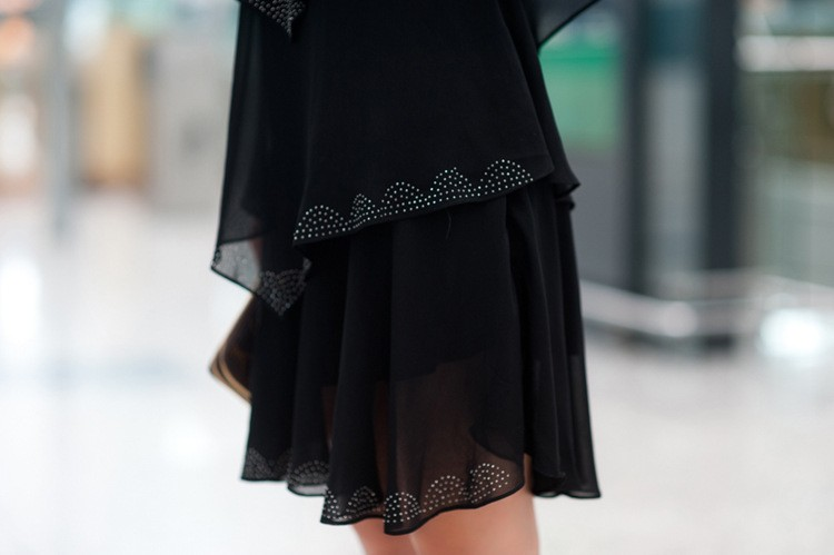 Vestido De Festa Summer Dresses 5XL Plus Size Women Clothing ropa mujer 18 Chiffon Dress Party Short Sleeve Casual Blue Black 8