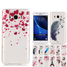 New Butterfly Flower Designer Case For Coque Samsung J5 Case Silicone Cover J5 2016 Case For Samsung Galaxy J5 2016 J510 SMJ510F