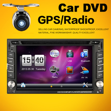 IN-DASH 6.2 Inch Double 2 Din Car DVD Autoradio With GPS Navigation Bluetooth Free MAP For Universal Car Console(China)