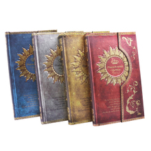 Registered Mail 2016 1pcs New Mysterious Retro Magnet Buckle Magic Notebook Diary European Notepad Page 192, Size 11.1 * 19.2cm(China)