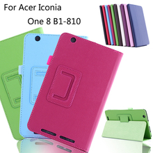 Case For Acer Iconia ONE 8 B1-810, GARUNK Solid Flip Protective Skin PU Leather Stand Cover for Acer B1 810 8.0 inch Tablet(China)