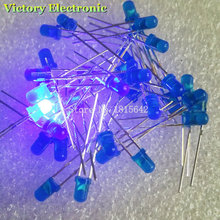New 100PCS/Lot 3MM LED Diode Round Blue Color Light Lamp F3 DIP Highlight Wholesale Electronic