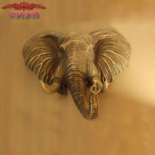 2016 Real Limited European Style Retro Fashion Wall Decoration Home Furnishing Resin Elephant Lucky Housewarming Opening Gift