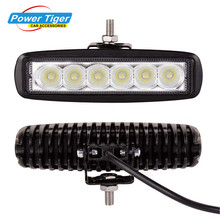2000LM Super Bright Daytime Running Light 10-32V Universal 18W LED Flood/Spot Work Light Off Road Lamp Fog Driving Bar