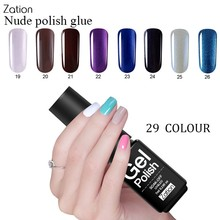 Zation High Quality Color Uv Gel Nail Polish Nail Lacquer 29 Colors UV Gel Hybrid Varnish Polish Semi Permanent Glue(China)