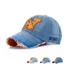 Hotsale Orange W Embroidered Denim Baseball Cap Men And Women Caps Hats Casual Baseball Hats Peaked Cap Retro Bone AHC017