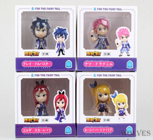 Fairy Tail Original 4pcs/lot 8cm Boxed PVC Action Figure Model Toy Gift(China)