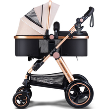 Baby Stroller 3 In 1 Foldable Stroller Foldable Stroller Aluminium Baby Carriage Push Car Stokke Poussette Buggy(China)