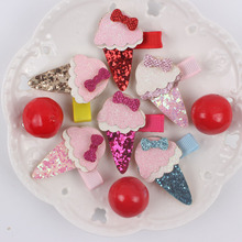 2017 NEW Summer sweet ice cream model girl fashion hairpin 6 colors lovely kids clip hair accessories for women barrettes BQL257(China)