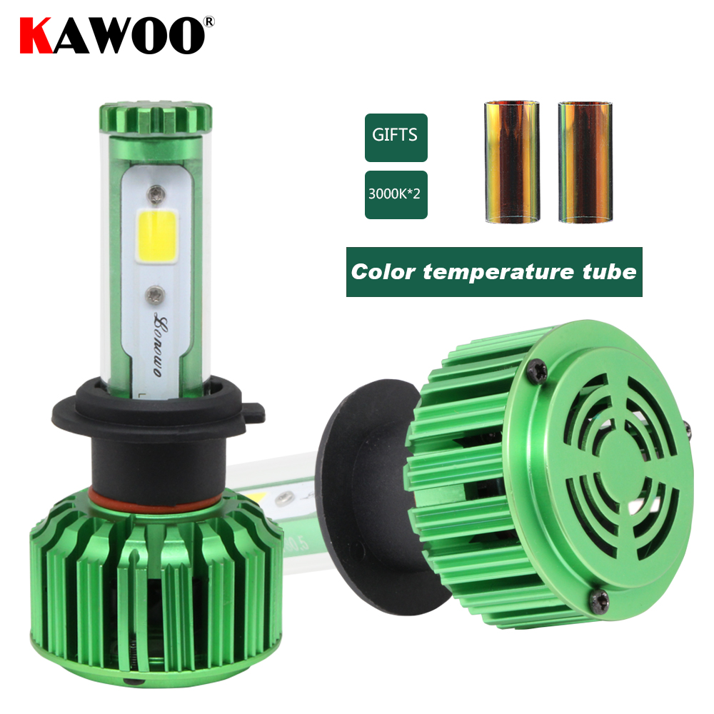 KAWOO H1 H27 880 9005 9006 9012 H11 H3 H4 Auto Headlamp Front Light Car LED Headlights 6000K Lights Lighting Bulb Fog Light<br>