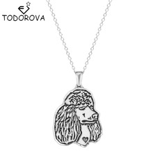 Buy Todorova Giant Poodle Silhouette Pet Dog Tag Breed Pendant Chain Animal Necklace Pet Lovers Women Statement Necklaces for $1.01 in AliExpress store