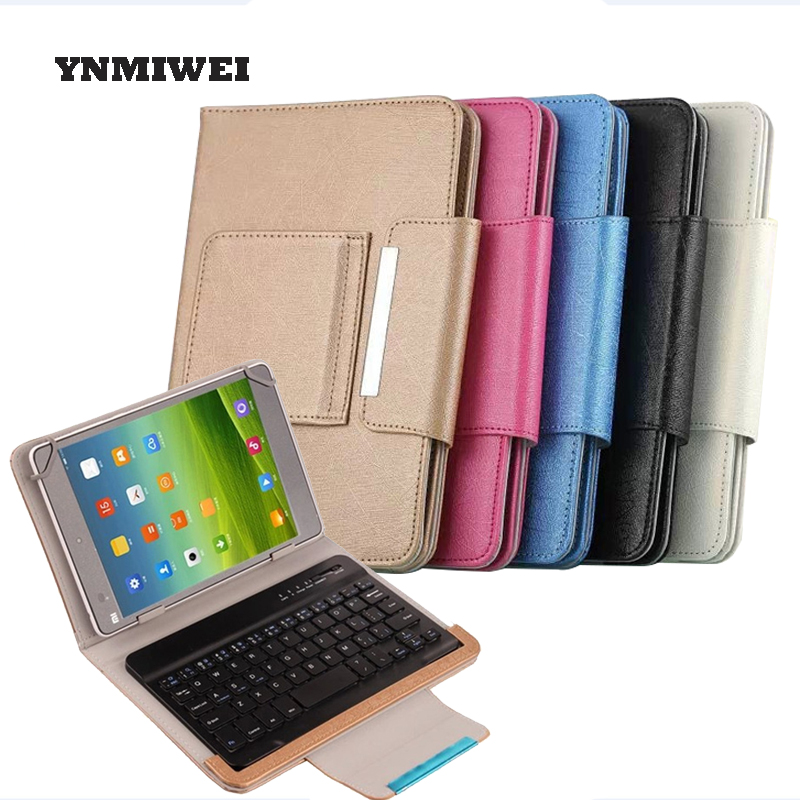 YNMIWEI 7 Tablet Universal For 8 PU Case With Bluetooth Keyboard Protection Case Cover For Ipad Lenovo 7.0 Inches Shell<br>