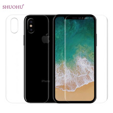 2pcs/lot SHUOHU For iPhoneX Soft Front + Back TPU Film For Apple iPhone X HD Clear Screen Protector Film ( Not Tempered Glass )