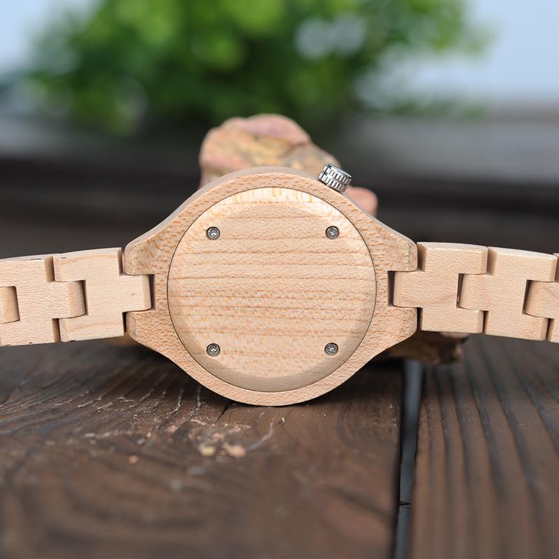 ساعة يد نسائية BOBO BIRD الخشبية الاصلية 8