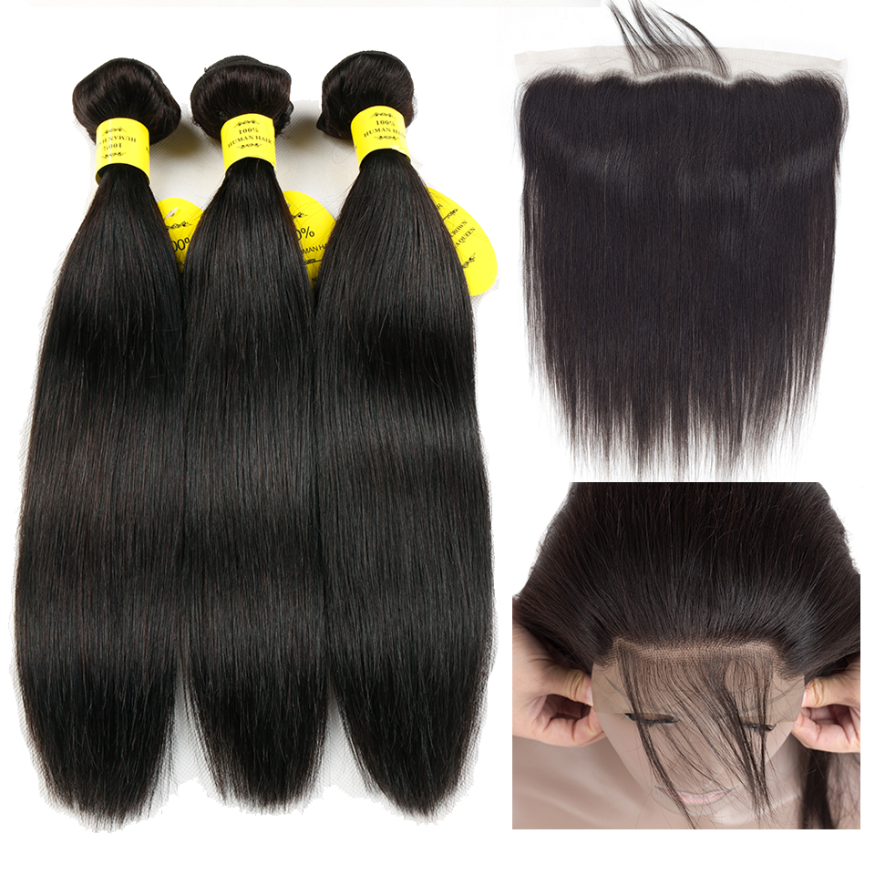 Brazilian virgin hair with closure 100