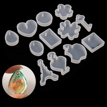 12Pcs/set Holes Key Waterdrop Silicon Mold Mould Resin Jewelry Making DIY Craft