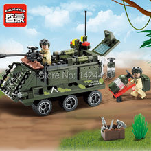 Enlighten Military Series Armored car 814  DIY Mind&Hand Combat Zone Building Block Assemble Brick Kid Toy Gift For Collection