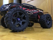 1/5 TRAXXAS X-MAXX Wheels Waterproof and wear-resistant Widened Tire RC Monster truck Rim 4pcs + wheel nuts Size 219MMX105MM(China)