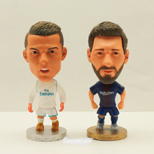"2pcs/lot Soccer Player Star C.RONALDO & MESSI 2.5"" Action Dolls Figurine(China)"