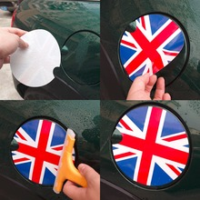 2017 Tirol 1PC 180*180mm PVC Mini Cooper F55 F56 Car Petrol Diesel Fuel Tank Cap Gas Cover Vinyl Sticker Decal British UK Flag