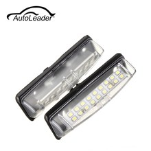 AutoLeader 1Pair White Car LED License Plate Lights 12V Number Plate Lamp No Error Fit For Lexus IS200 IS300 GS300(China)
