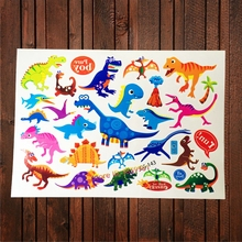 3D Baby Cartoon Colorful Dinosaurs Jurassic Waterproof Tattoo Sticker Kids Temporary Flash Tattoo Paste Baby Body Arm Tatoo