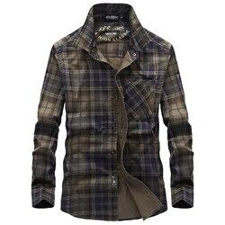 Рубашка в клетку с длинными рукавами, мужская повседневная рубашка, новая брендовая весенне-осенняя хлопковая рубашка с отложным воротнико...