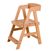 Height Adjsutable Simple Modern Children's Study Chair Kids Furniture Desk Computer Dining Chair Child Small Stool Wood