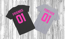 Forever friends 01 T-shirt tumblr fashion friends t shirt grey/ black fashion instagram tees summer outfits Tumblr BFF t shirt