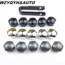 car-styling Wheel Lug Bolt Center Nut Covers Caps 321601173A for Audi A4 Q5 VW Jetta Golf Skoda SEAT with 17mm Hexagon Bolt(China)