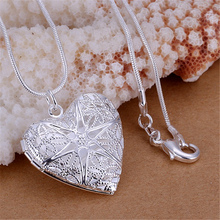 new free shipping silver plated for women necklace jewelry silver jewelry fashion cute Heart pendant snake necklace P185(China)