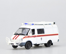 Special offer Out of print DEA 1:43 Russia white ambulance Alloy car models The new plastic packaging Favorites Model