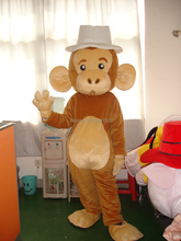 2016 ON SALE cartoon BIG EARS MONKEY Mascot Costume Adult Character Costume optional giving mini fan Halloween