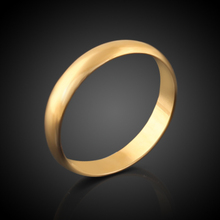 Hearts Q Jewelry Trendy Gold Ring Men /Women Gift 18k Real Gold Plated Classic Gold Wedding Bands Rings For Men Women