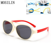 RILIXES Crianças Óculos Polarizados Óculos de Sol de Silicone Ultra-macio  Do Bebê Crianças Óculos de Sol Meninos Meninas Óculos . 6e8aa0331c