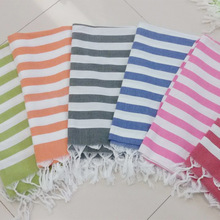 180*100cm large 100% Cotton towel  stripes absorbent and breathable with Tassels bath Beach towel for adult
