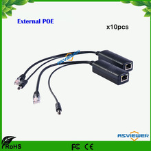 DC 12V POE Injector Splitter Connector IEEE802.3af Active 10/100Mbps For IP Cameras VoIP Phone AP 12V/1A Output AS-PST301