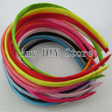 MyAmy  Free Shipping 100pcs/lot Fashion Great Quality Hairband Roll With Satin Ribbon Girl Headband For Girls  Hair Accessories
