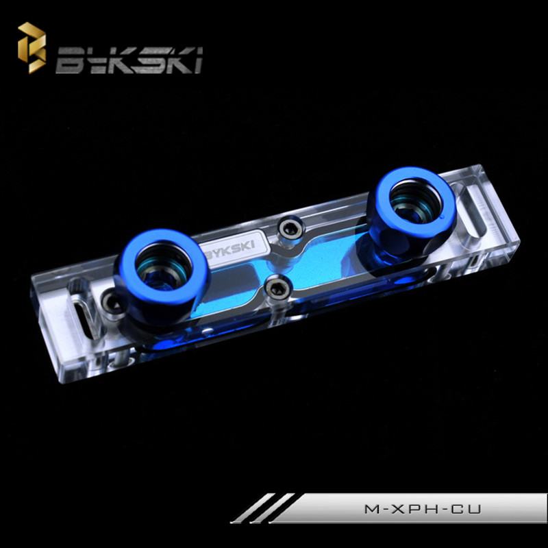 Bykski M-XPH-CU Transparent Acrylic Water-cooled Memory head supports dual-channel RAM Water Block<br>