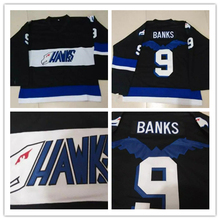 Mighty Ducks Movie Jersey Hawks Adam Banks #9 Men's Stitched Embroidery Hockey Jerseys S-3XL Free Shipping(China)
