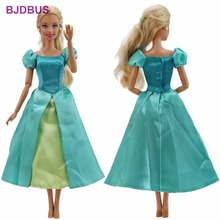 Special Style Fairy Tale Dress Copy Ariel Mermaid Princess Gown Party Skirt Clothes For Barbie Doll Accessories Kids Xmas Gifts(China)