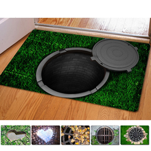 Fashion 3D Trap Printed Carpet For Living Room Bedroom Floor Mats Kitchen Rugs Entrance Doormats Funny Rubber Door Mat #85123