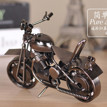 Retro Motorcycle Model Vintage Harley Motorcycle Model Iron Metal Crafts Birthday Gift Bar Desktop Home Decor(China)