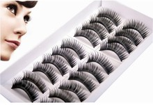 new 10 pairs High Quality Thick Long False Eyelashes Extension Three Trees Handmade Makeup Lashes