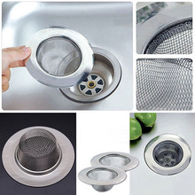 2016 Stainless Steel Mesh Sink Strainer Trap Bath Hair Drain Hole Metal Flume Filter(China)