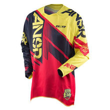 2017 Motocross jersey New Cycling motociclista Racing Elite Jersey Adult Medium Yellow Black Closeout MX Dirt cyclin(China)