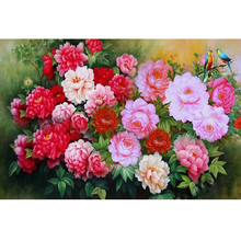 New Needlework 5d Diy Diamond Painting Cross Stitch peony Diamond embroidery full Flowers rhinestone Mosaic decoration picture